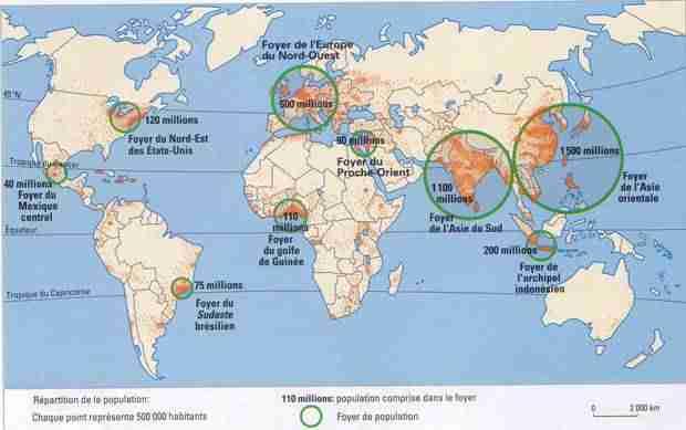 Population dans le monde